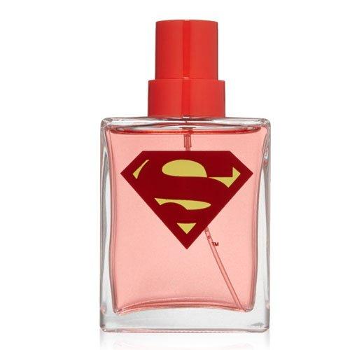 Bottle of cologne with Super Man symbol.