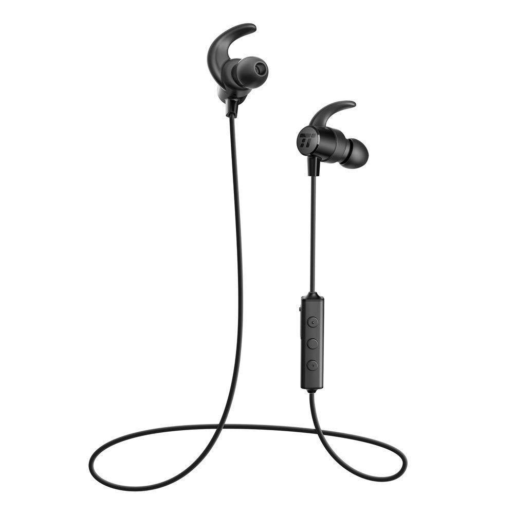 Bluetooth wireless earbud headphones.