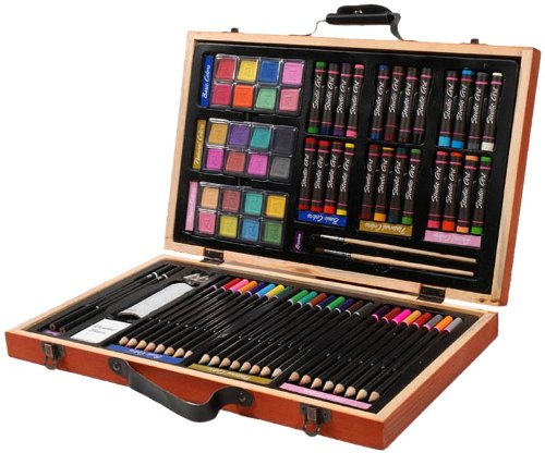 Artist kit with paints and pencils.