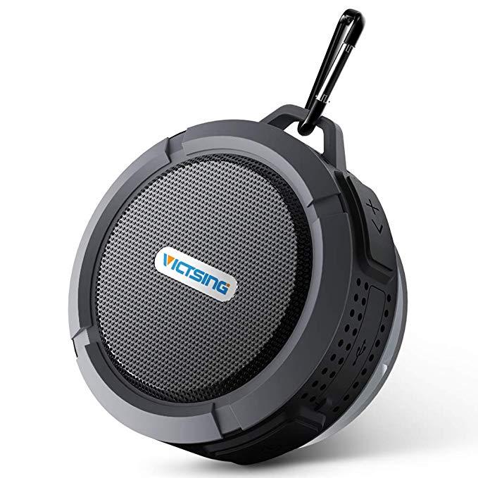 Black shower speaker gift for Christmas.