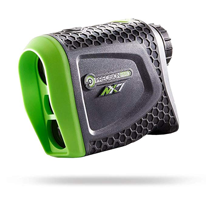Gray and green golfing range finder.
