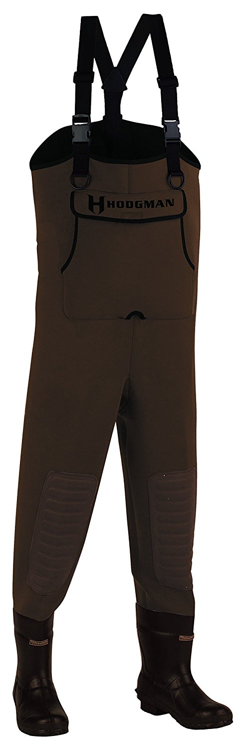 Brown wader pants for fishermen and duck hunters.
