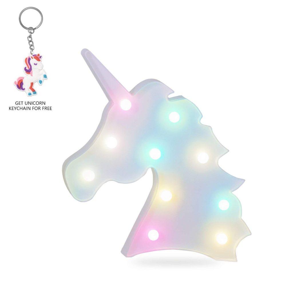 Unicorn LED night light.