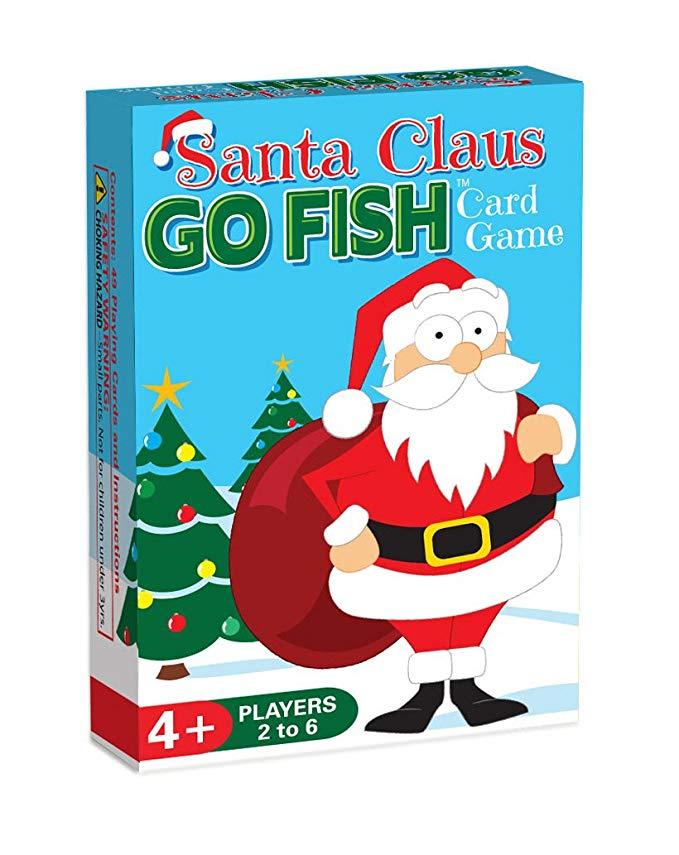 Santa Claus Go Fish game for Christmas stocking.