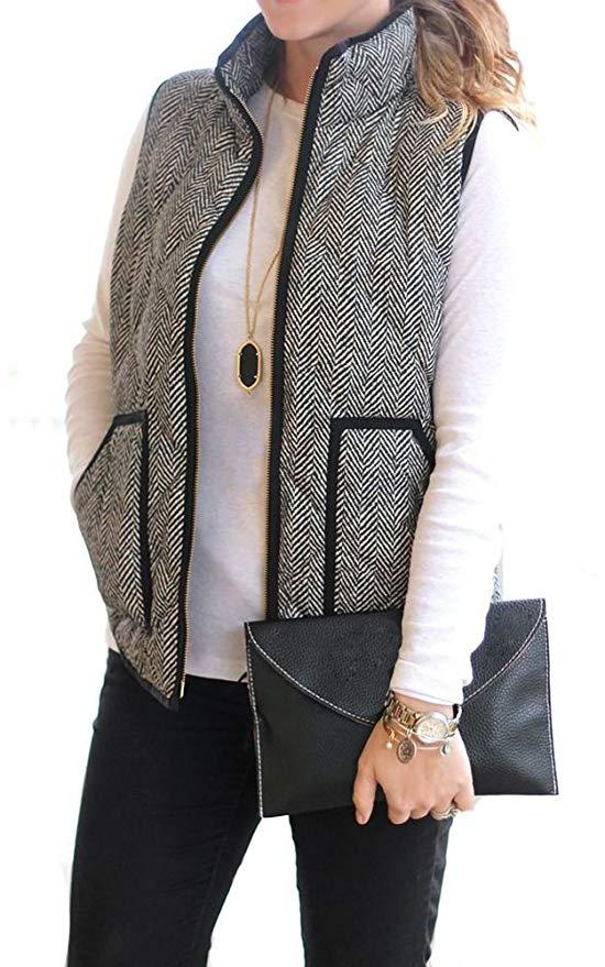MEROKEETY Women\'s Slim Fall Quilted Puffer Vest.