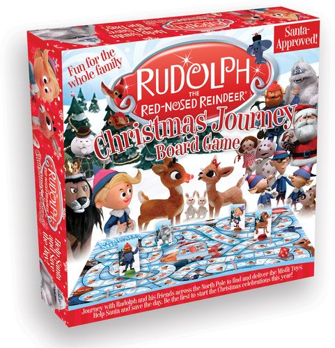 Rudolph\'s Christmas Journey board game.