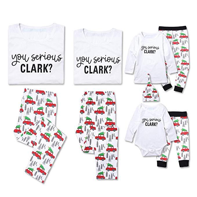 Family pajama set for Christmas.