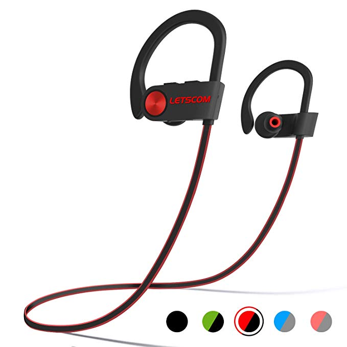 Wireless, bluetooth headphones for going to the gym.