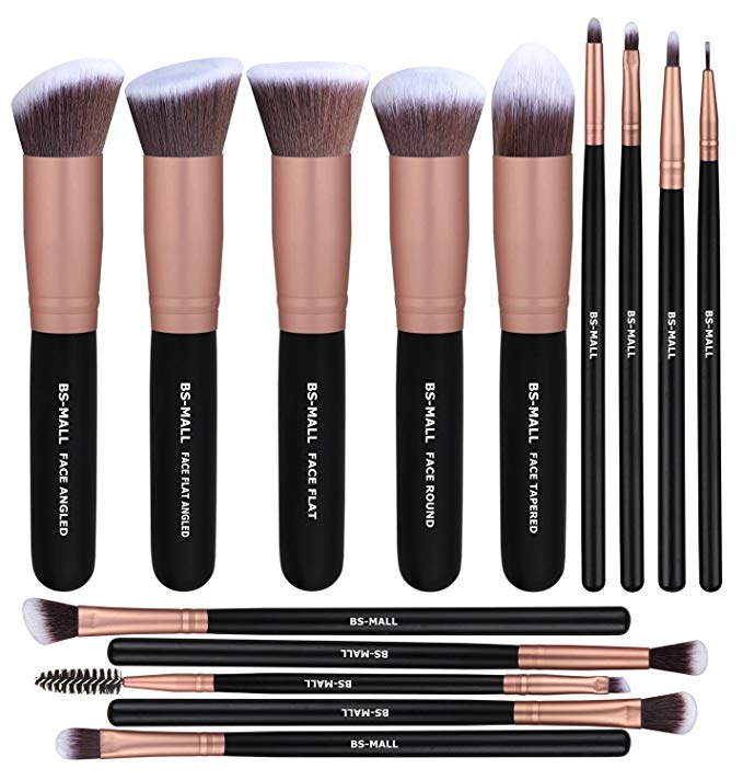 Makeup brush set for teens and young adults.