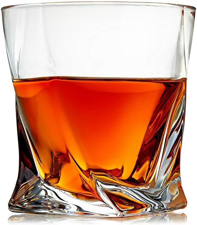 Glass cup for scotch and bourbon.
