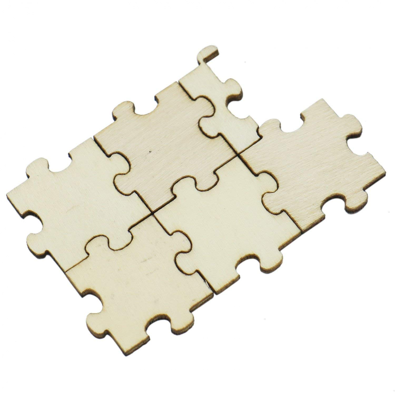 Puzzle pieces for party guest sign in.