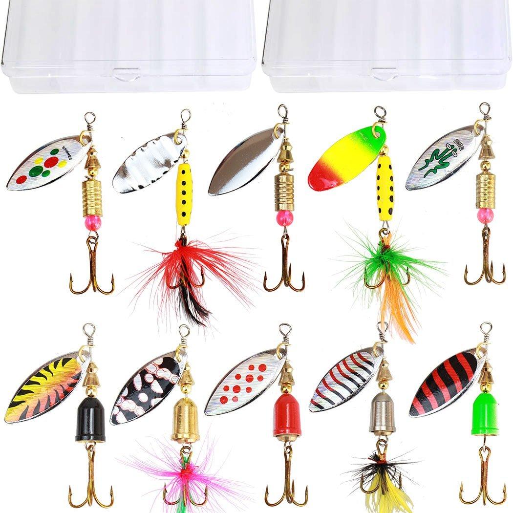 10 Piece fishing lures kit.