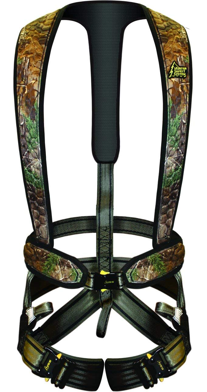 Camouflage tree stand for hunters.