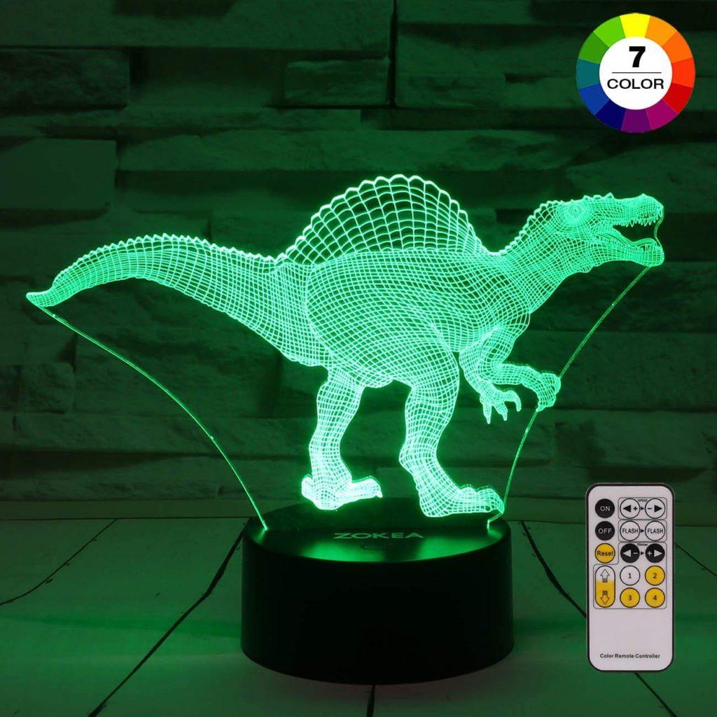 Dinosaur 3D night light.