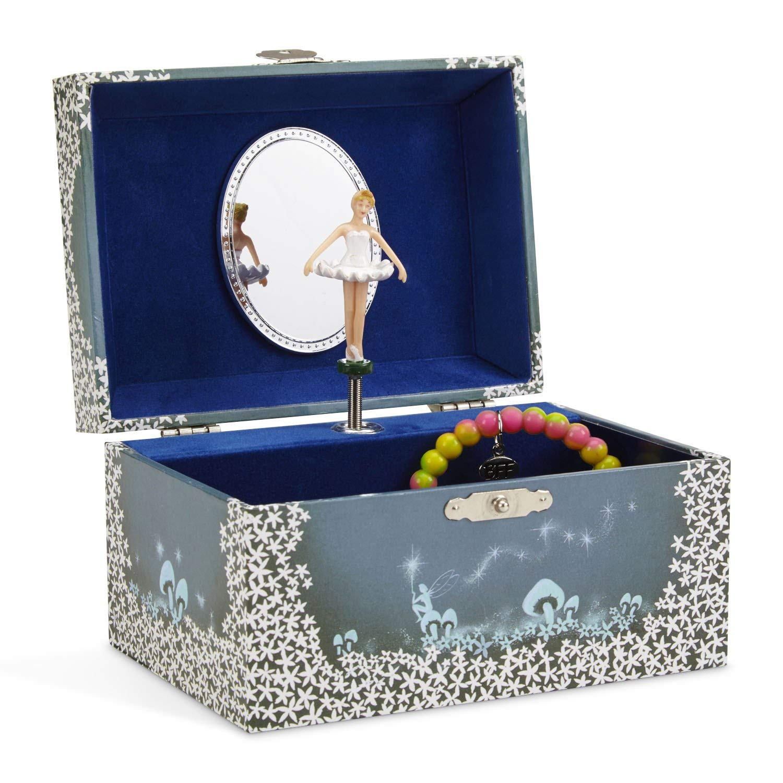 Jewelry box with ballerina figurine.