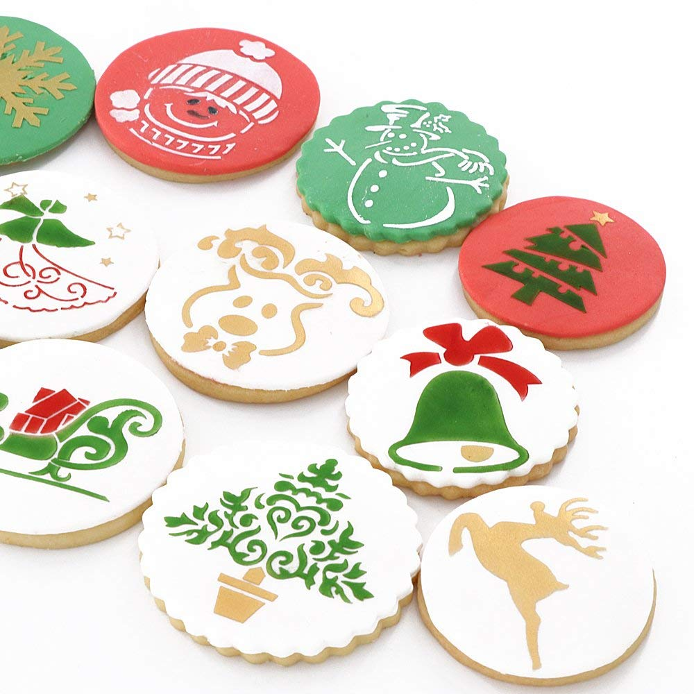 Christmas themed bake and decorate cookies.
