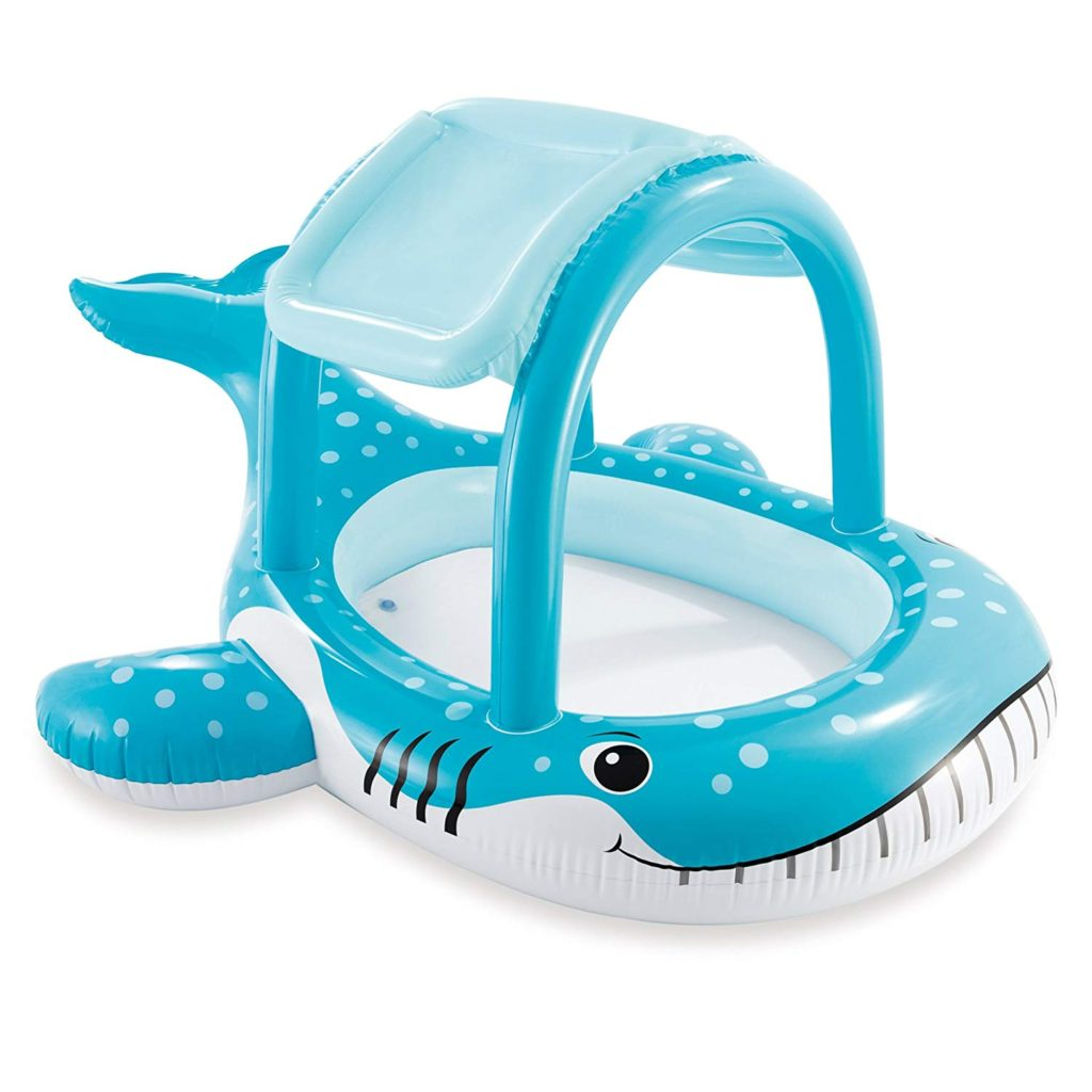Whale shade pool for babies.
