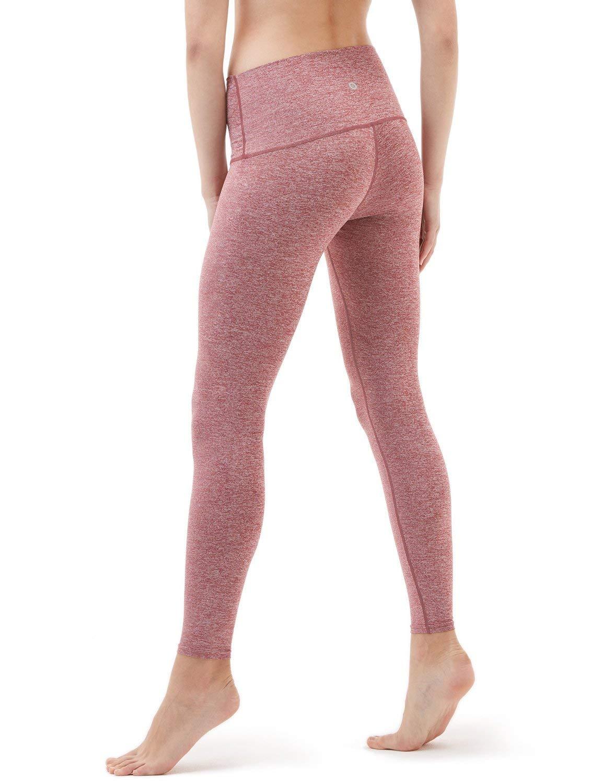 Pink, high waist yoga pants.