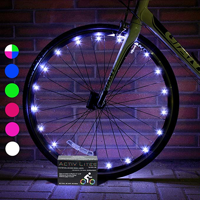 LED bike wheel light.