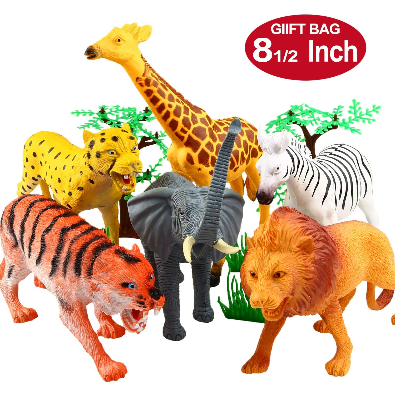 Jungle animal figurine set.