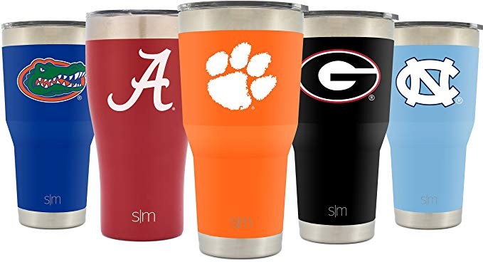 Sports team stainless steel vacuum insulated tumblers.