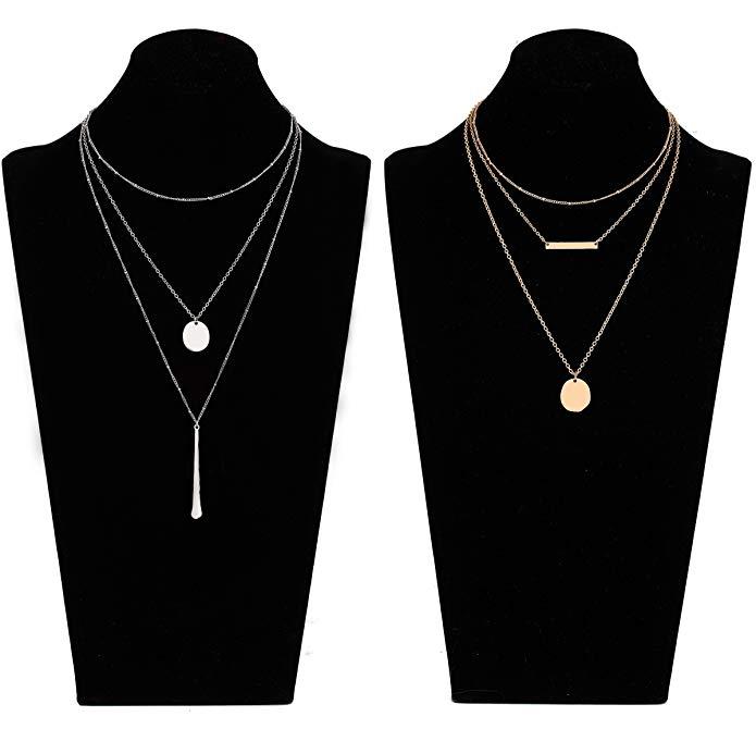 2 pieces Bohemia Layered Necklace Set.