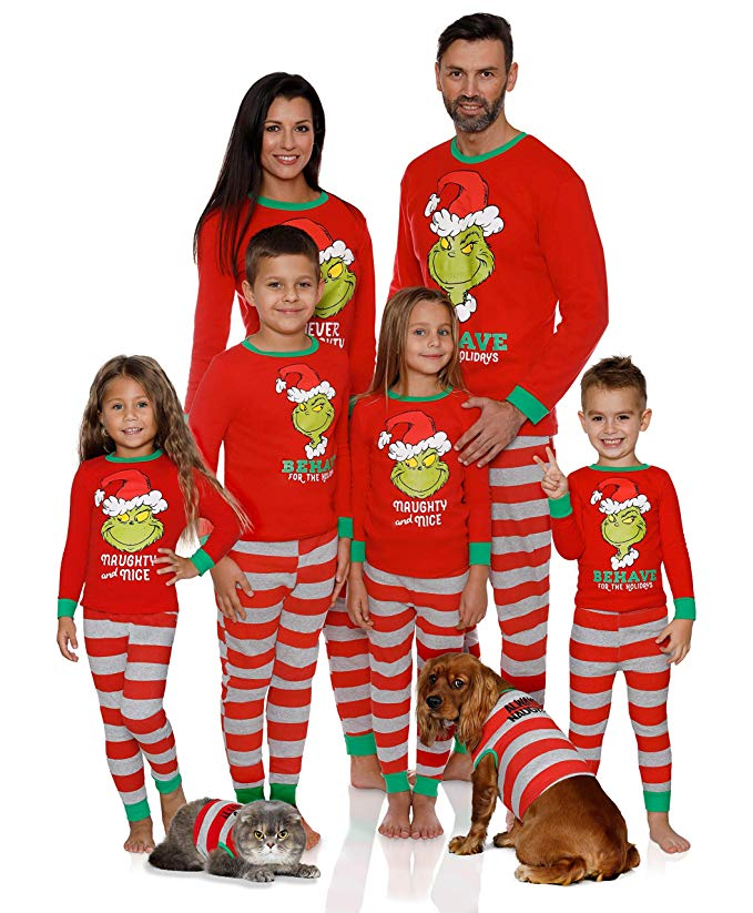 The Grinch PJ set for families.