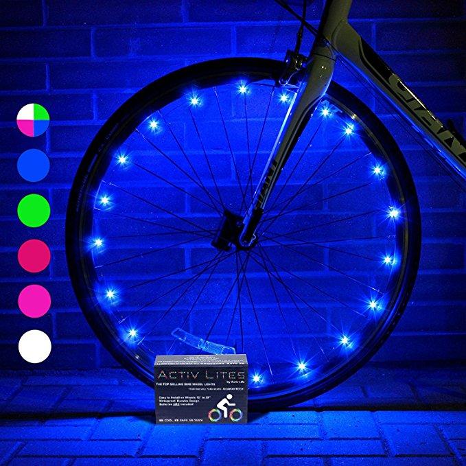 LED bike wheel lights gift for kids.