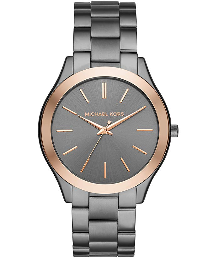 Classy, men\'s gray and gold watch.