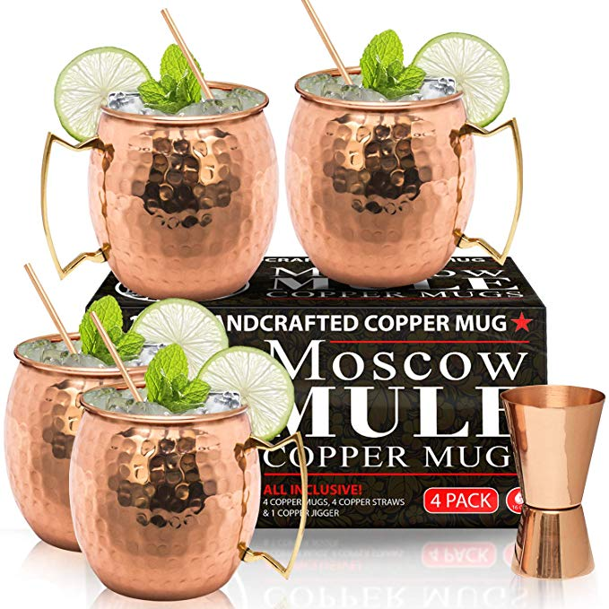 Rose gold Moscow Mule gift set for her.