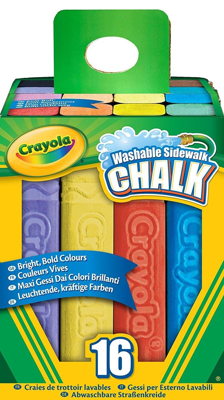 Crayola Washable Sidewalk Chalk.
