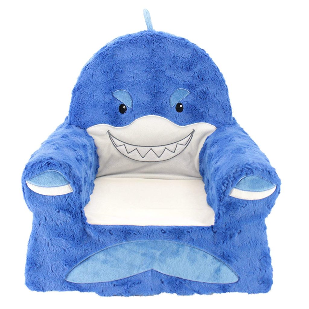 Shark children\'s chair from infant and toddler gift guide.