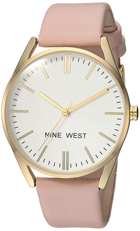 Nine west gold and pink women\'s watch.
