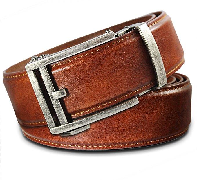 Brown men\'s leather belt.