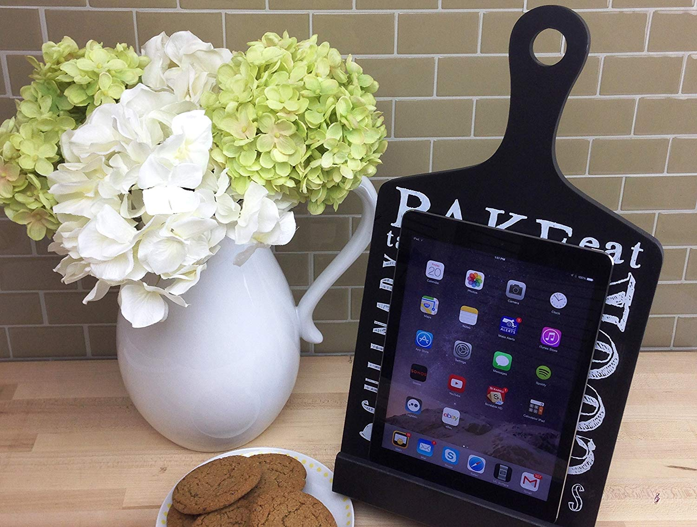 Kitchen tablet stand.