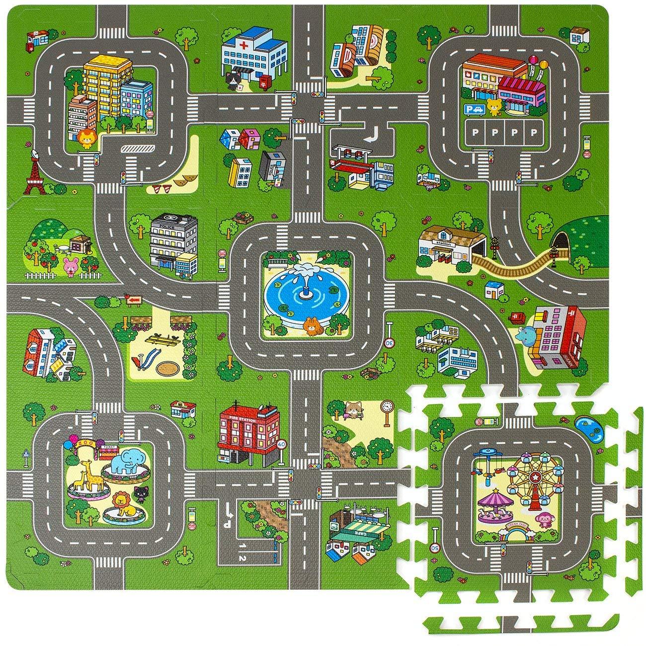 Traffic kids play mat.