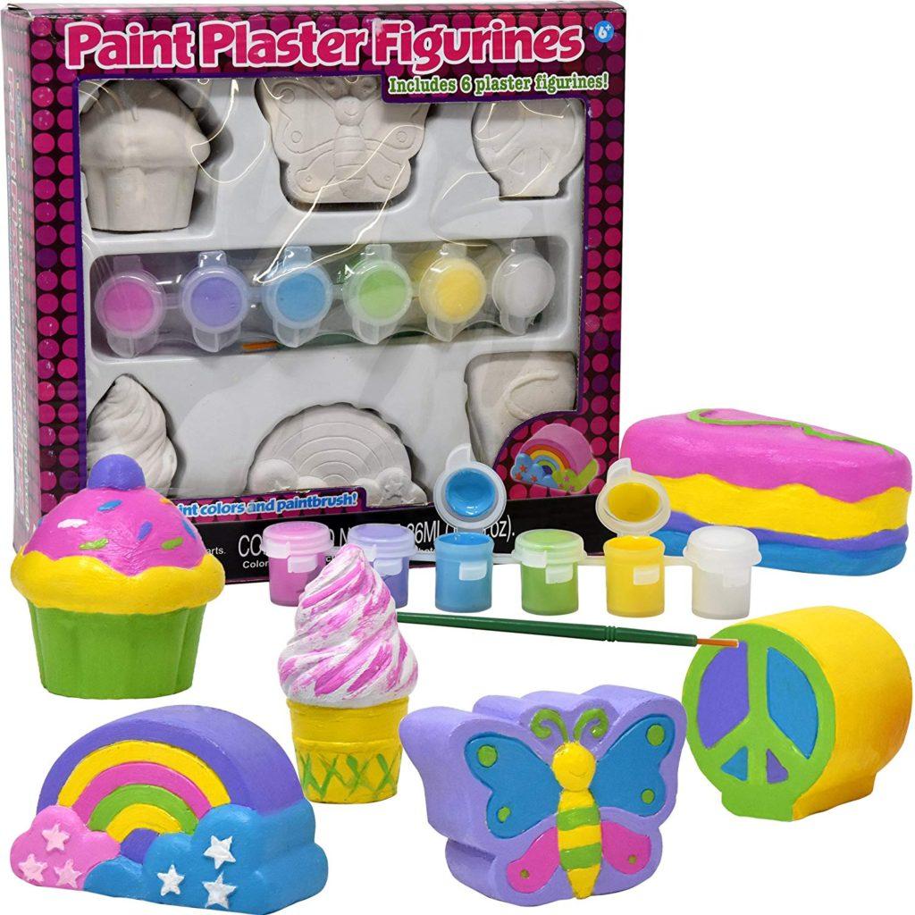 Paint Plaster Figurines kit for kids.