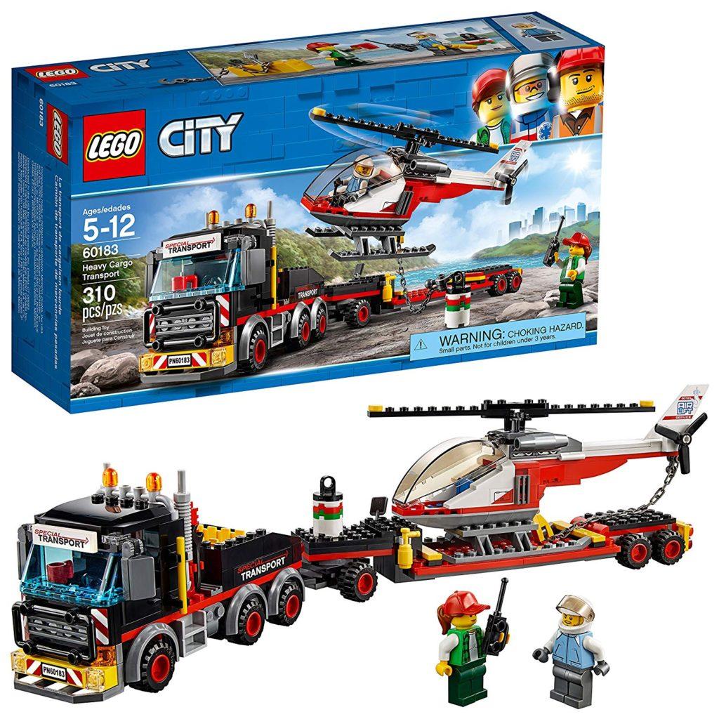 Lego City helicopter transport set.