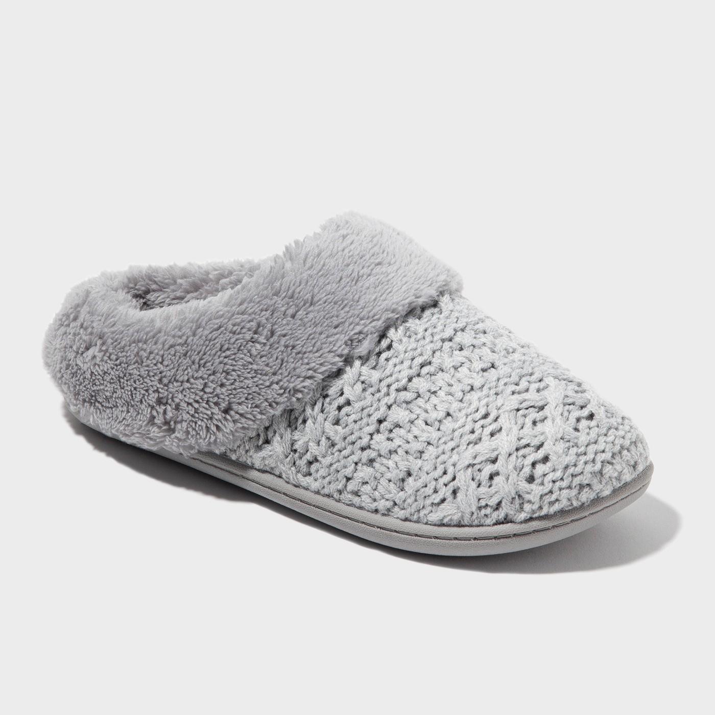 Cozy, gray women\'s slippers.