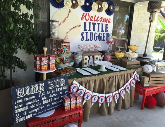 ""\""""Welcome Little Slugger"""" baby shower theme and tablescape.""564|435|?|en|2|067bc687f8419b8e9b6799121d06a316|False|UNLIKELY|0.3450406789779663