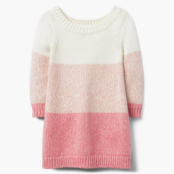 White peach and pink striped sweater.