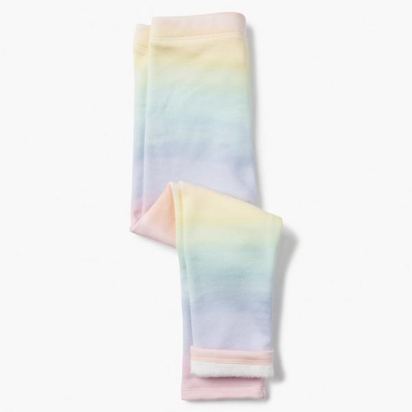 Ombre rainbow little girl leggings.