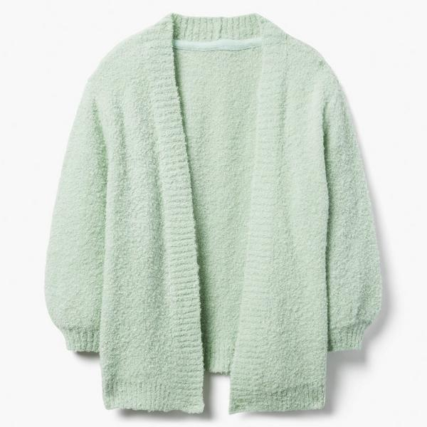 White sherpa sweater for girl child.