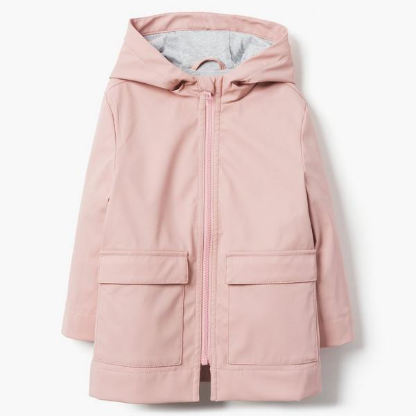 Pink little girl trench coat.