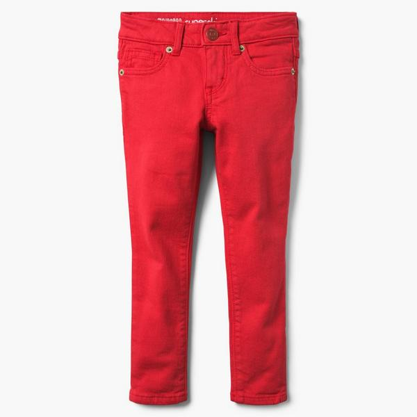 Red pants for little girl.