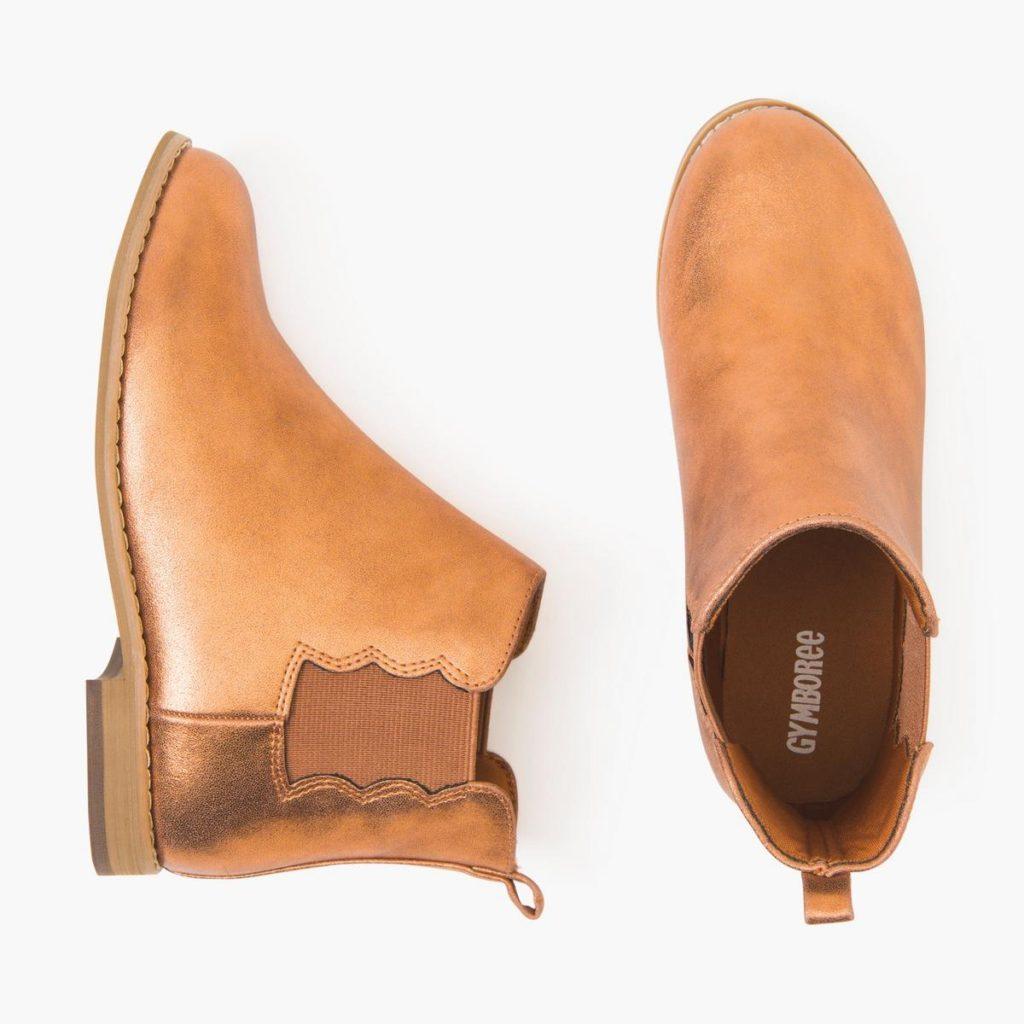 Camel, slide on winter boots.