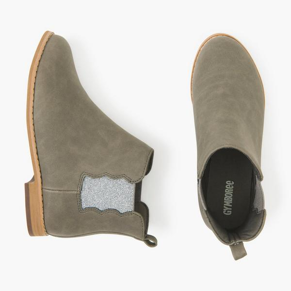 Gray slide on winter boots.