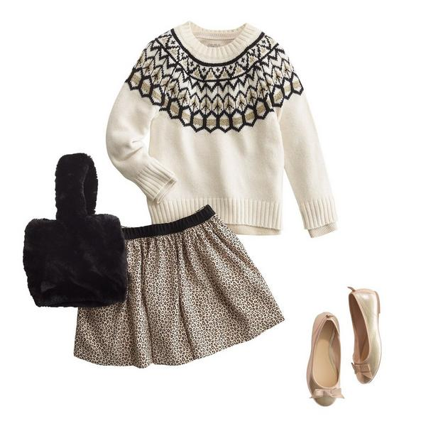 4 piece winter outfit for girls.