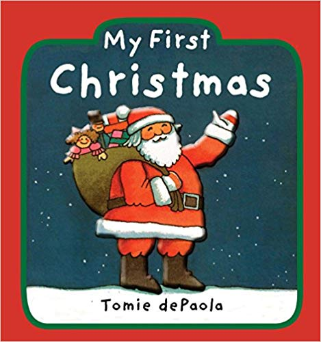 """Book cover for \""""My First Christmas\"""" baby book."""