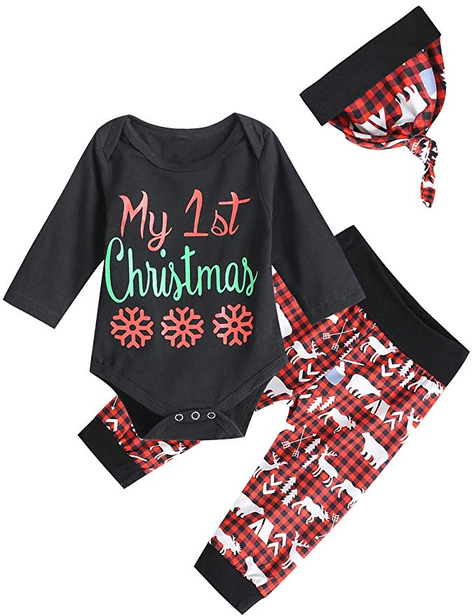 My First Christmas outfit idea for babies.